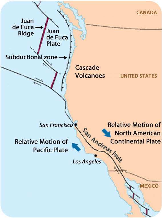 Earthquake fault lines